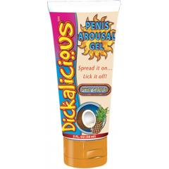 Dickalicious Penis Arousal Gel, 2 fl.oz (58 mL), Pina Colada