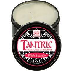 CalExotics Tantric Soy Massage Candle with Phermones White Lavender