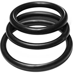Rubber Cock Rings 3 Pack