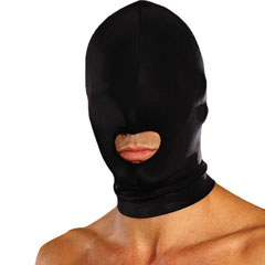 Lux Fetish Open Mouth Stretch Hood Black