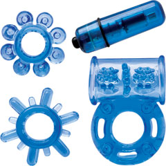 Climax Couples Kit with Vibrating Cockring, Neon Blue