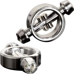 Metal Worx Magnetic Nipple Clamps Silver