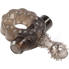 Crossbones Mighty Marble Single Bullet Vibrating Cockring for Lovers, Smoke