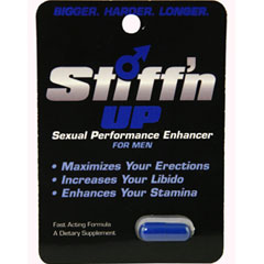 Stiff N Up Sexual Performance Enhancer for Men 1 Count