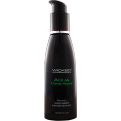 Wicked Aqua Candy Apple Flavored Water Based Lubricant, 4 fl. oz.