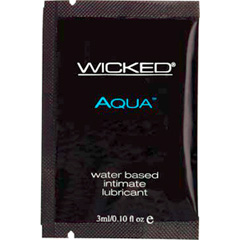 Wicked Sensual Care Aqua Water Based Lube, 0.10 fl.oz (3 mL) foil