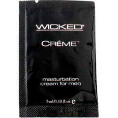 Wicked Sensual Care Masturbation Cream for Men, 0.10 fl. oz (3ml) pillow