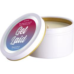 Burning Desire Pheromone Soy Massage Candle, 4 ounce (113 g), Passion Fruit