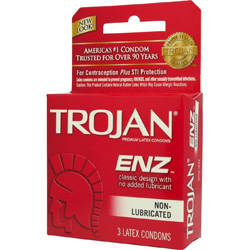 Trojan Non Lubricated Condoms 3 Pack