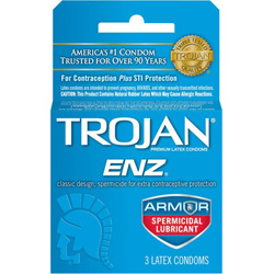 Trojan Enz with Spermacide Lubricated Condoms 3 Pack