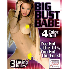 Big Bust Babe Inflatable Doll with 3 Loving Holes