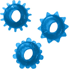 Man Strength Sensual Pleasure Erection Jelly Rings, 3 Pack, Blue