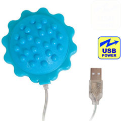 iPhone Charger Compatible Vibrating Massage Ball, 2.75 Inch, Blue