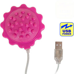 iPhone Charger Compatible Vibrating Massage Ball, 2.75 Inch, Sensual Pink