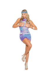 Opaque cupless mini dress.