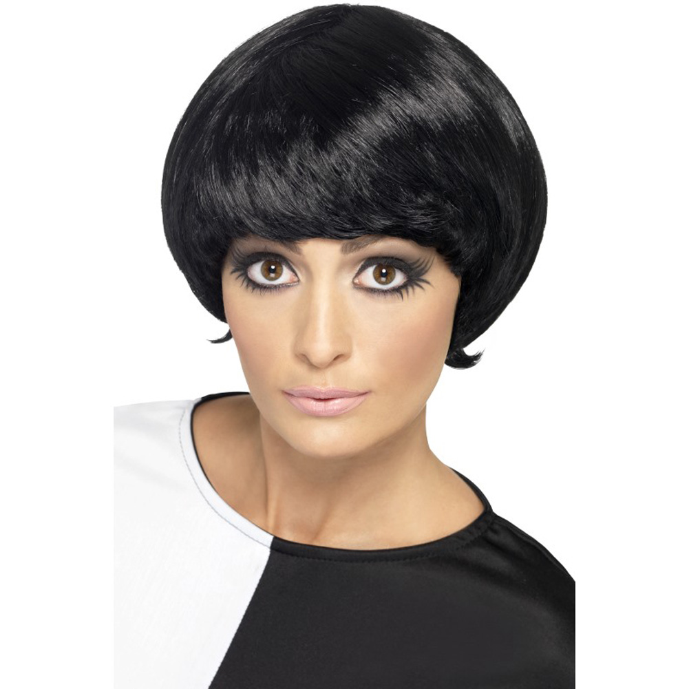 Smiffys 60s Psychedelic Wig, One Size, Black
