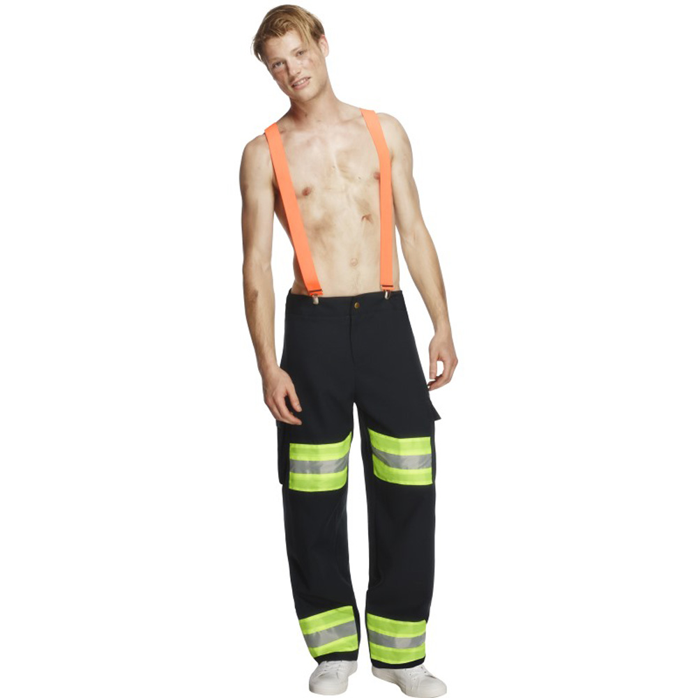 Fever Male Firefighter Costume, Medium