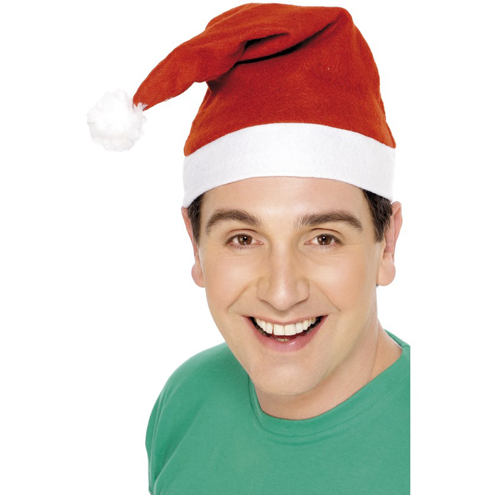 Smiffys Iconic Santa Hat, One Size, Crimson Red