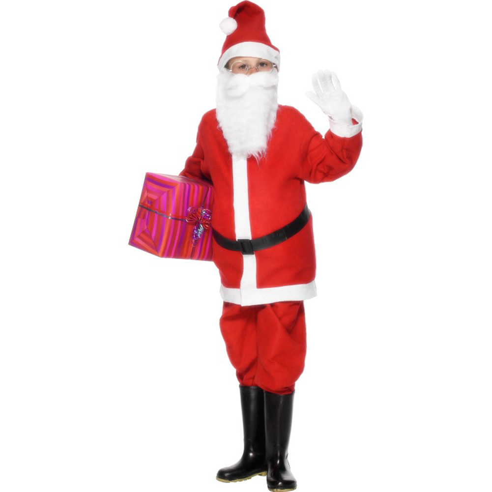 Smiffys Santa Costume for Boys, Large, Red