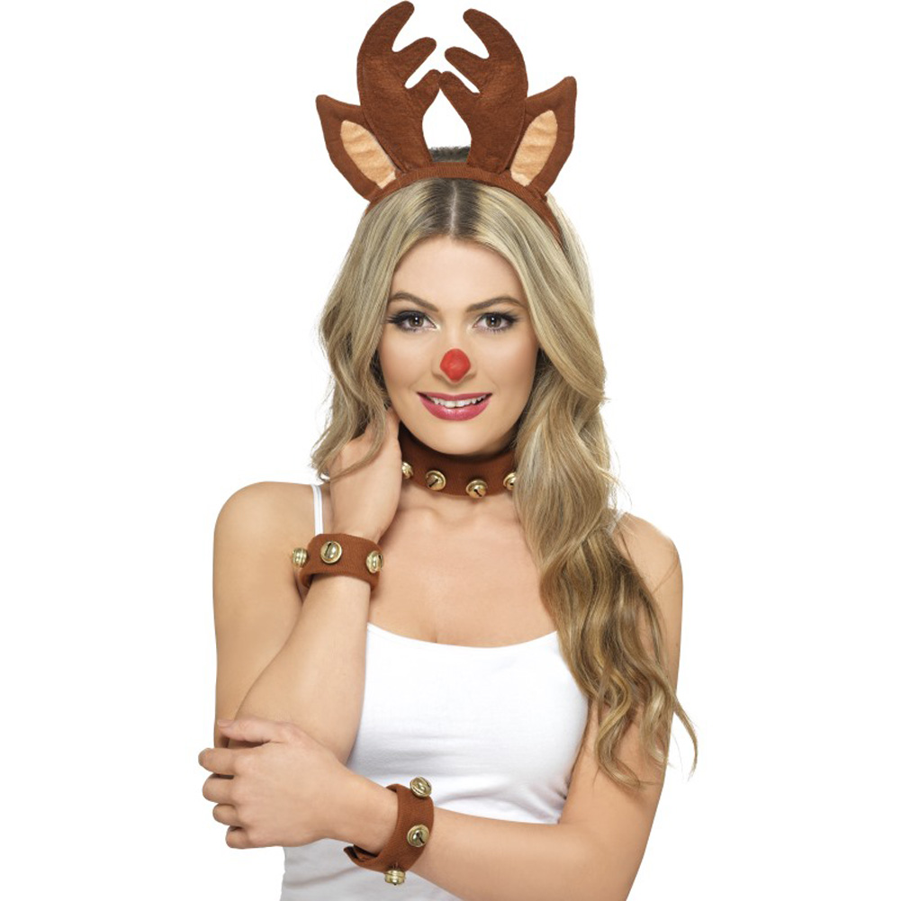 Smiffys Pin Up Reindeer Kit, One Size, Brown