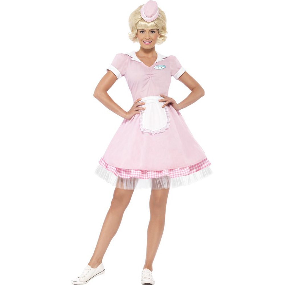 50s Diner Girl Costume, Extra Small