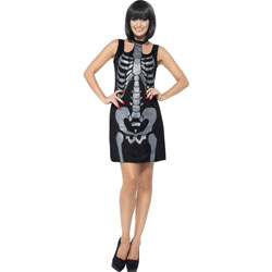 Smiffys Skeleton Costume, Large, Black