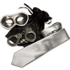 Sex and Mischief S&M SHADES Trilogy Light Bondage Kit, Silver