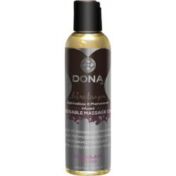 DONA Kissable Massage Oil - Chocolate Mousse - 4.25 Oz.