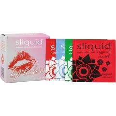 Sliquid Naturals Swirl Flavored Lubricant Lip Licker Cube, 12 Pack