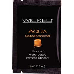 Wicked Sensual Care Collection Aqua Waterbased Lubricant, 3 ml, Salted Caramel