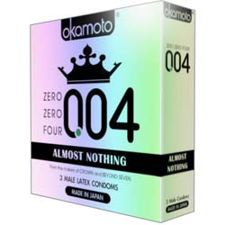 004 Almost Nothing Condoms, 3 Pack