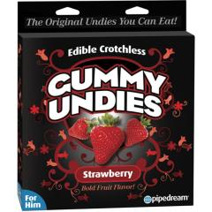 Pipedream Edible Male Gummy Undies, Pack of 1, Strawberry