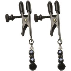 Spartacus Adjustable Broad Tip Beaded Clamps, Black