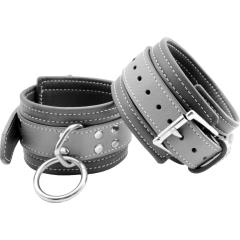 M2M Grey Leather Wrist Restraints