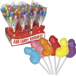 Penis Fun Candy Bouquet, 12 Count with Display
