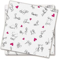 Candyprints Dirty Dishes Position Napkins, Bag of 8, White