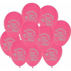 Final Fling Before the Ring Balloons 10 Piece Pack