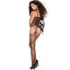Vivace Lace Suspender Bodystocking Black One Size
