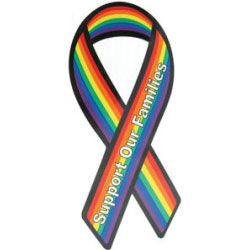 Gaysentials Pride Ribbon Magnet-Sup Our Families