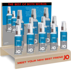 System Jo Hybrid Water and Silicone Based Lubricant,12 Piece Display Case, 1 fl. oz. each