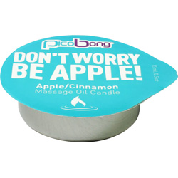 Pico Bong Dont Worry Be Apple Massage Oil Candle, 0.5 oz (15 mL), Apple/Cinnamon