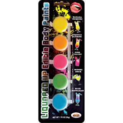 Hott Products Liquored Up Edible Body Paints 1.76 oz Assorted Flavors, Set of 5