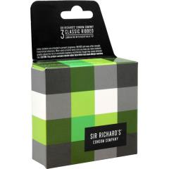 Sir Richards Classic Ribbed Textured Latex Condoms, 3 Each Per Pack