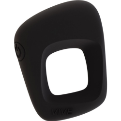 VIVE Senca Rechargeable Silicone Vibrating Cock Ring, Black