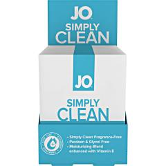 System JO Personal Cleansing Wipes Singles Simply Clean 24 Single Packs Per Box
