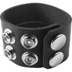 Spartacus Leather C and B Gear Slit Oiltan Cock Ring, Black