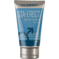 Doc Johnson Sta Erect Delay Cream for Men, 2 Oz (56 g)