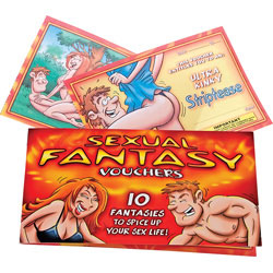 Sexual Fantasy Vouchers, 10 Fantasies to Spice up Your Sex Life.