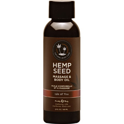 Earthly Body Hemp Seed Massage and Body Oil, 8 fl.oz (237 mL), Isle of You