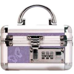 BMS Factory Personal Vibrator Lockbox, 5.25 Inches, Silver/Purple